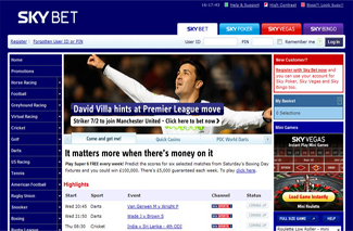 sky bet sports screenshot